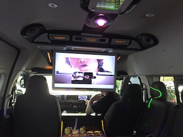 13 Seater Party Bus Interior