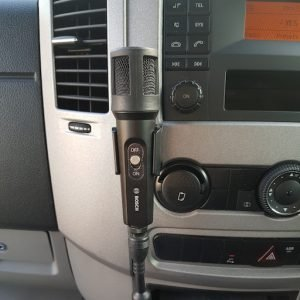 Microphone & PA system on 19-seater Mercedes Benz Sprinter mini bus
