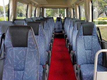 24 seater mini bus interior