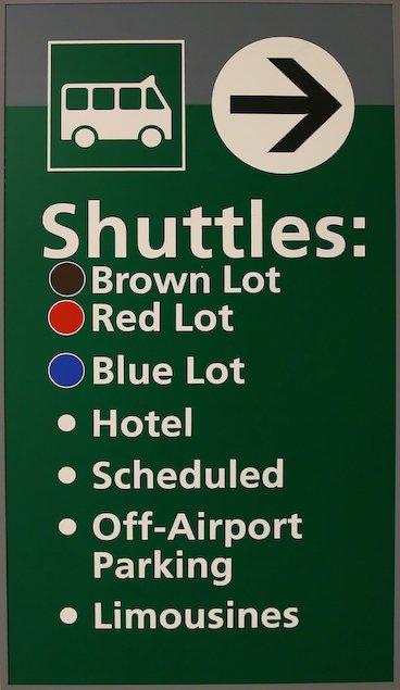 Bus shuttle sign board
